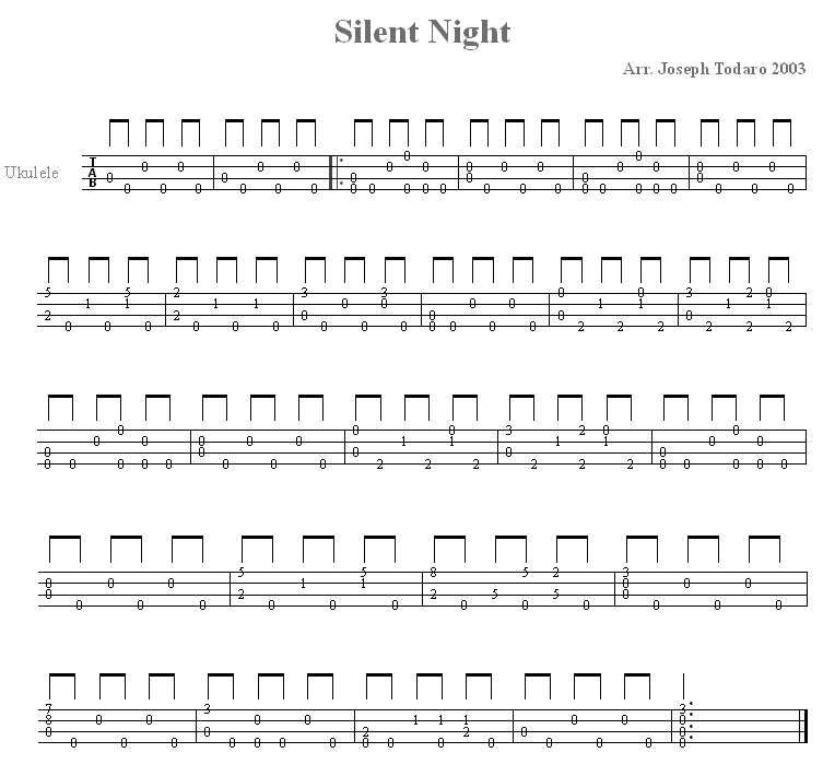 Silent Night - for Ukulele