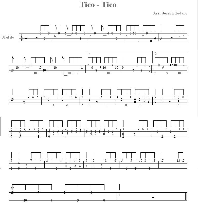 ukulele粉刷匠谱子
